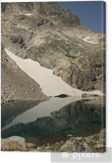 Tableau sur toile Lac glaciaire dans Posets-Maladeta parc naturel - Eau