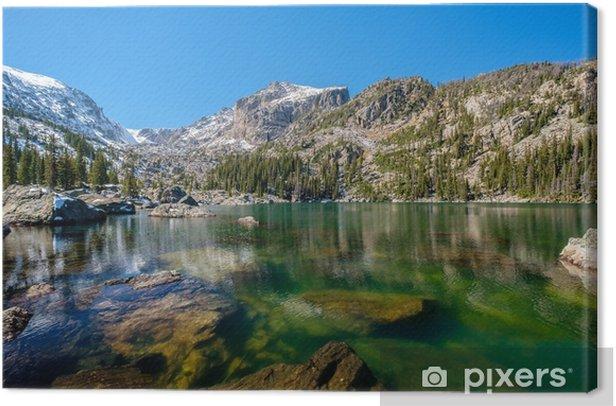 Tableau sur toile Lac haiyaha, montagnes rocheuses, colorado, usa. - Voyages