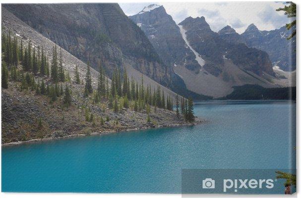 Tableau sur toile Lac Moraine Canada - Eau