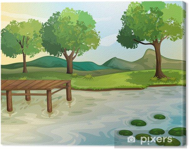 Tableau sur toile Lac - Paysages urbains