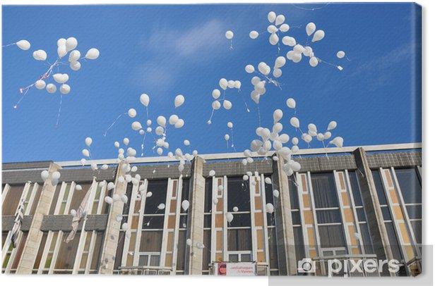 Tableau sur toile Lâcher de ballons - Paysages urbains