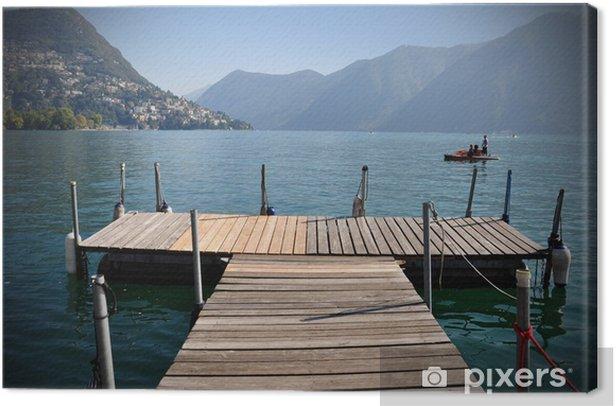 Tableau sur toile Lago di Lugano - Europe