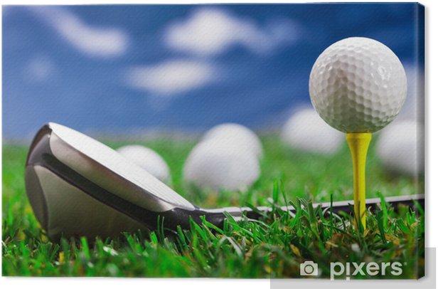 Tableau sur toile Laissez-le jouer au golf! - Thèmes