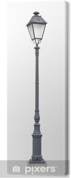 Tableau Sur Toile Lampadaire Rue Avec Une Lampe Decoupe Gris