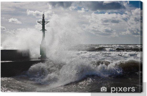 Tableau sur toile Lanterne et Storm en Baltique - Catastrophes naturelles