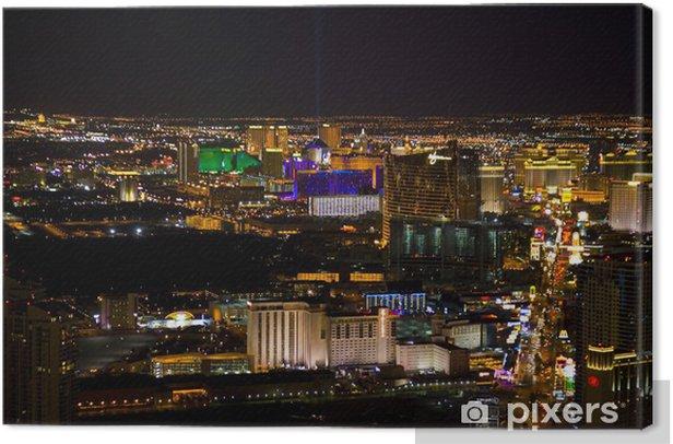 Tableau sur toile Las Vegas, Nevada, pendant la nuit aux Etats-Unis - Las Vegas