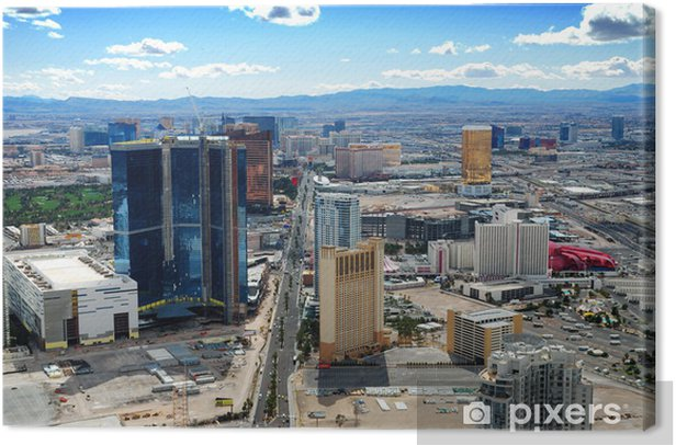 Tableau sur toile Las vegas skyline - Las Vegas