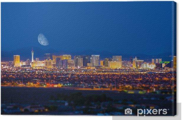Tableau sur toile Las Vegas Strip et de la Lune - Las Vegas