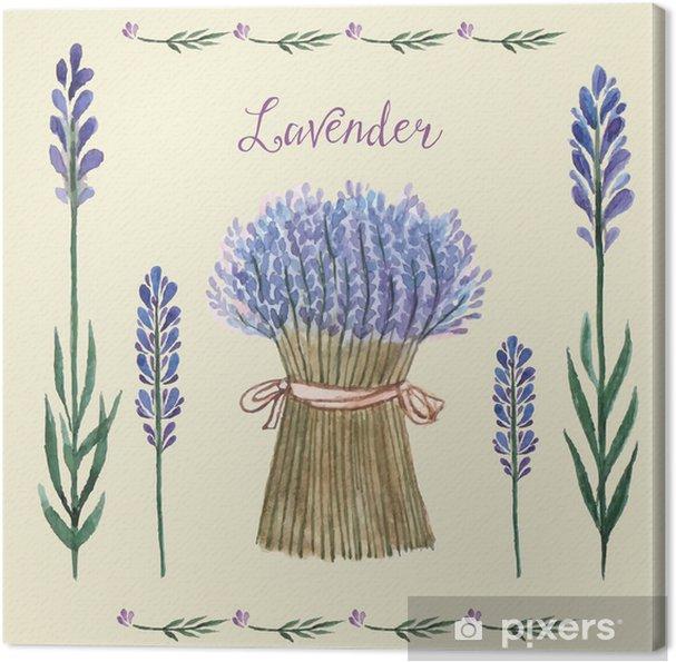 Tableau sur toile Lavande aquarelle. - Plantes