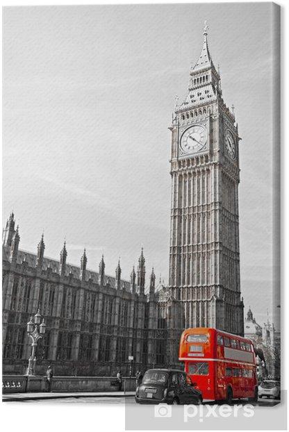 Tableau sur toile Le Big Ben, la Chambre du Parlement et le pont de Westminster -