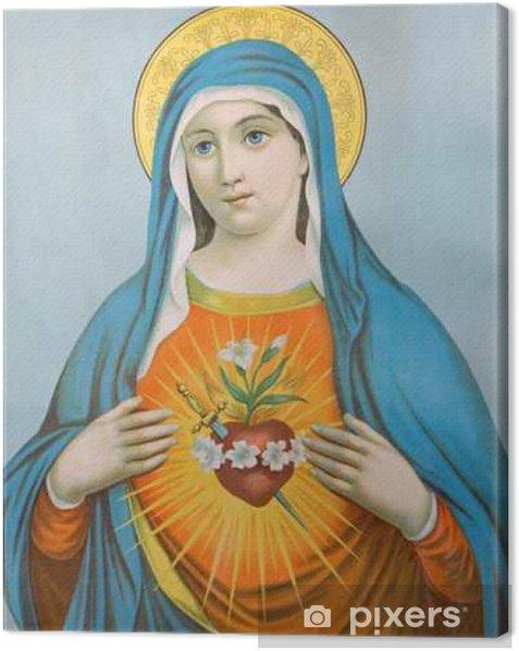 Tableau sur toile Le Cœur de la Vierge Marie - image typique catholique - Ressources graphiques