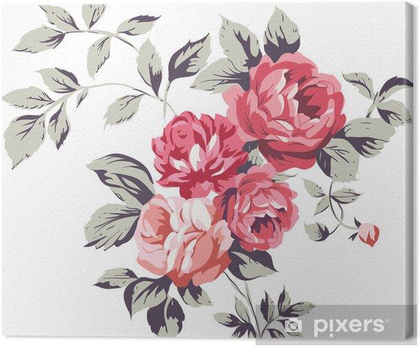 Tableau sur toile Le cru rose Roses - Sticker mural