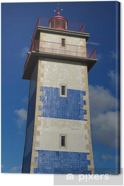 Tableau sur toile Le Farol de Santa Marta, Cascais, Portugal - Villes européennes