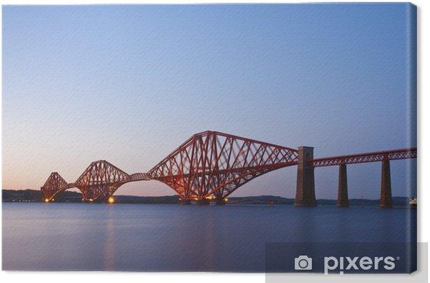 Tableau sur toile Le Forth Rail Bridge croisement entre Fife et Edimbourg, Scotl - Thèmes