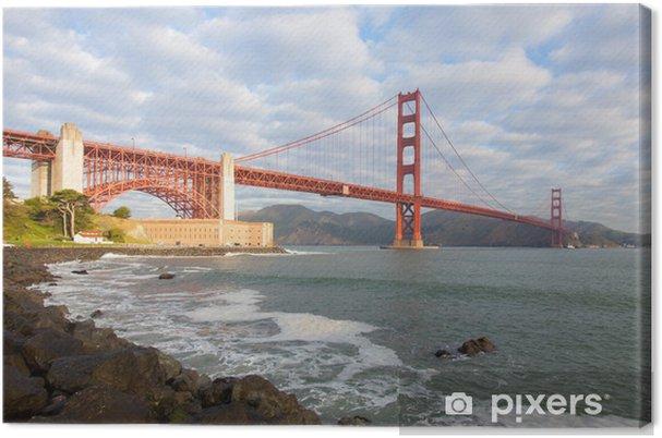 Tableau sur toile Le Golden Gate Bridge à San Francisco, Californie - Thèmes