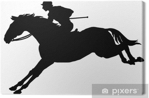 Tableau sur toile Le jockey sur un cheval - Mammifères