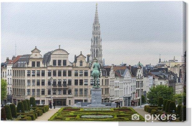 Tableau sur toile Le Mont des Arts à Bruxelles, en Belgique. - Villes européennes
