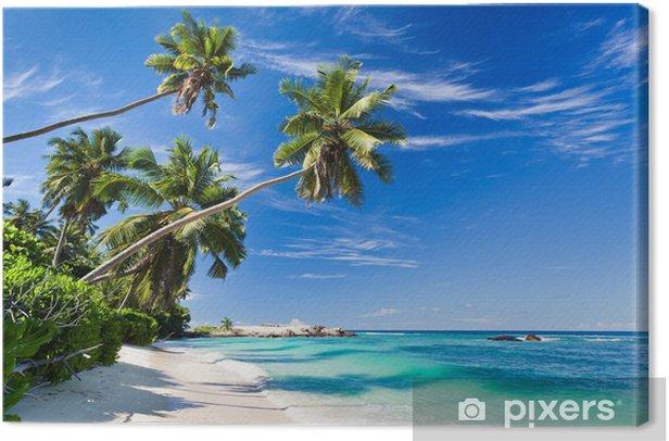 Tableau sur toile Le paradis à la plage - Palmiers
