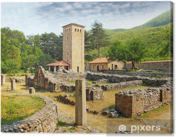 Tableau sur toile Le Patriarcat du Monastère de Pec au Kosovo, PM de l'UNESCO - Europe