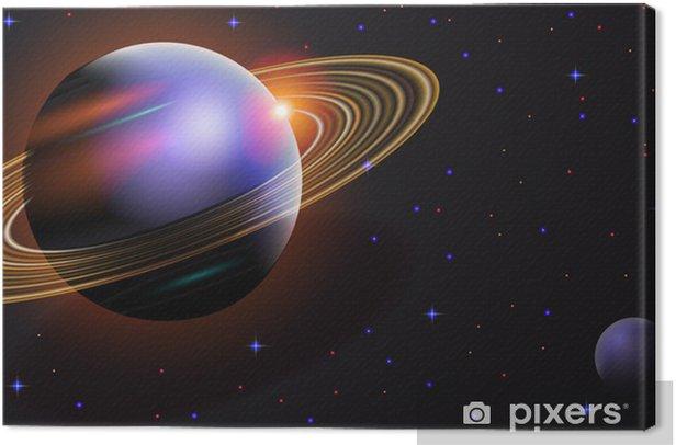 Tableau sur toile Le paysage cosmique - Espace