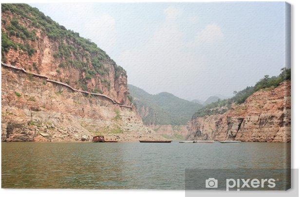 Tableau sur toile Le paysage de Jingniang lac à Handan - Merveilles naturelles
