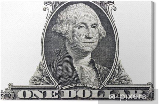 Tableau sur toile Le président George Washington - Textures