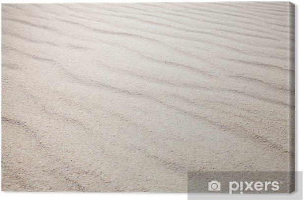 Tableau sur toile Le sable blanc avec des vagues schéma. La texture de fond - Arrière plans