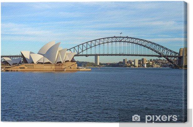 Tableau sur toile Le Sydney Harbour Bridge et l'Opéra - Thèmes