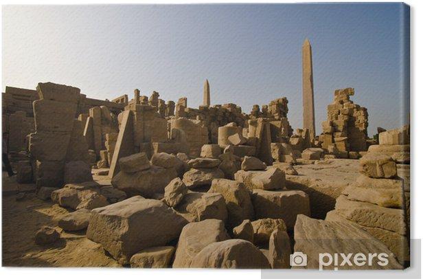 Tableau sur toile Le temple de Karnak obélisque -