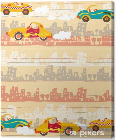 Tableau sur toile Le trafic urbain, voitures d'enfants modèle - Paysages urbains