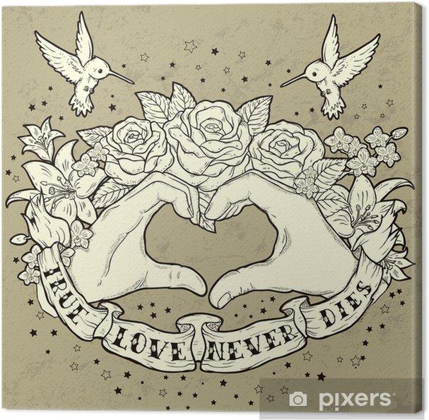 Tableau sur toile Le véritable amour - Bonheur