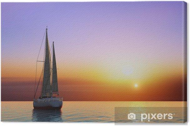 Tableau sur toile Le yacht - Océanie