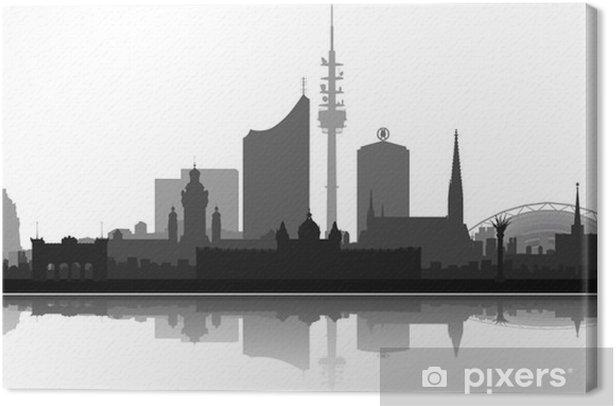 Tableau sur toile Leipzig City réduite - Vacances