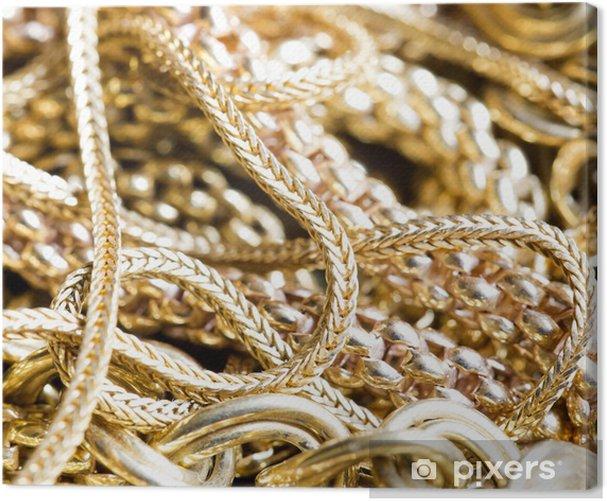 Tableau sur toile Les bijoux en or - Mode