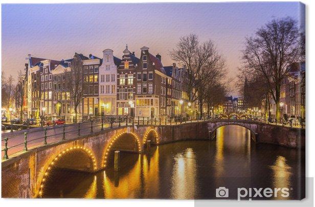 Tableau sur toile Les canaux d'Amsterdam - iStaging