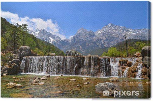Tableau sur toile Les chutes de la montagne alpine - Thèmes