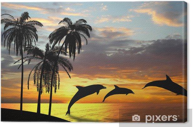 Tableau sur toile Les dauphins près de Hawaii - Thèmes