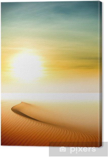 Tableau sur toile Les dunes de sable au coucher du soleil dans le désert du Sahara - Désert