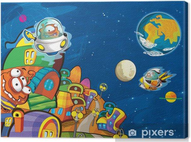 Tableau sur toile Les étrangers - UFO - pour les enfants -