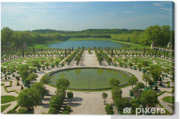 Tableau sur toile Les jardins de Versailles - Villes européennes