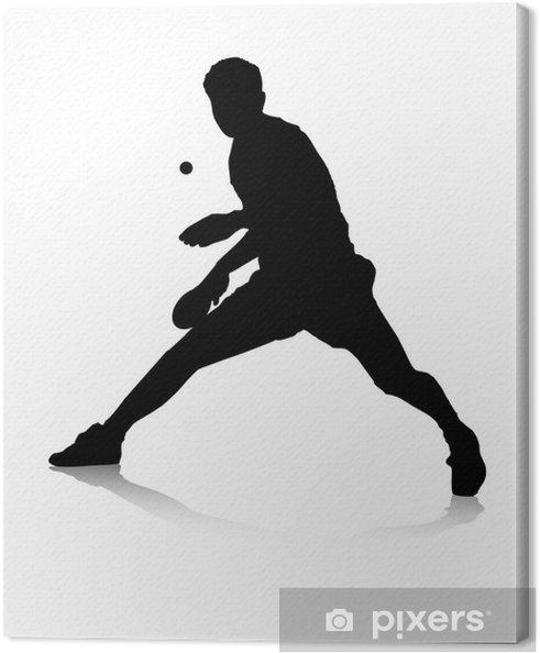 Tableau sur toile Les joueurs de tennis de table - Matchs et compétition
