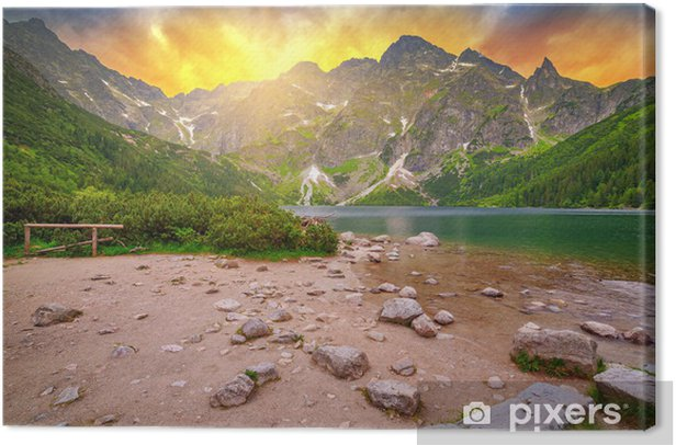 Tableau sur toile Les montagnes Tatras au coucher du soleil - Thèmes