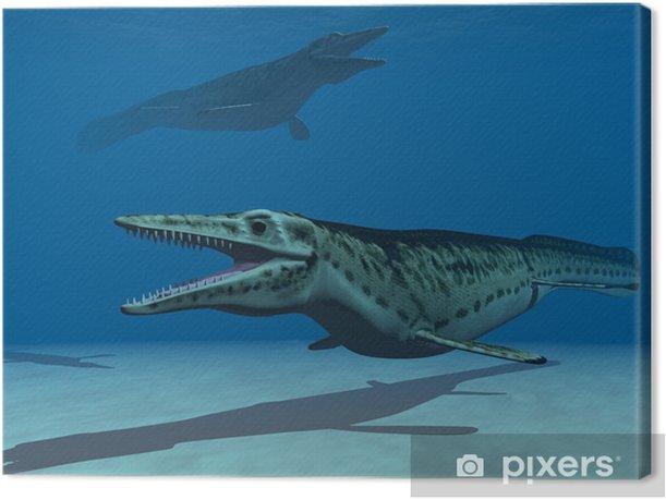 Tableau sur toile Les mosasaures - Thèmes