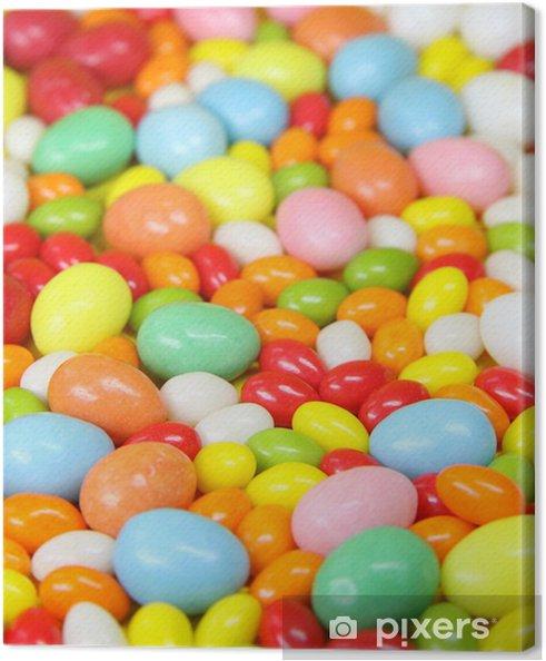 Tableau sur toile Les oeufs de sucre colorés - Fêtes internationales