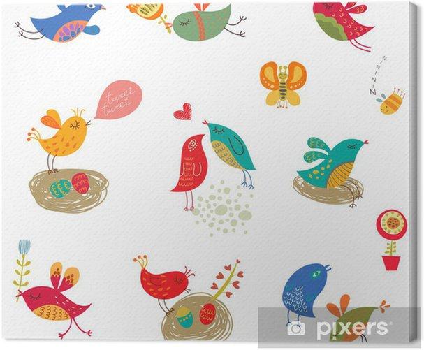Tableau sur toile Les oiseaux mis en - Célébrations