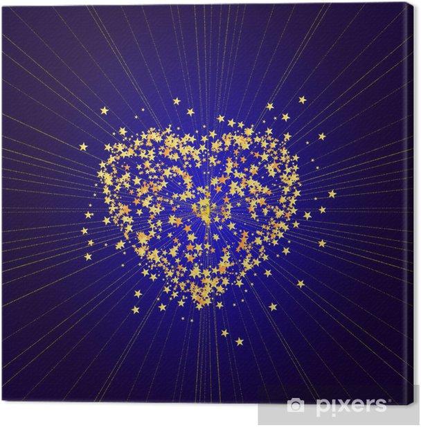 Tableau sur toile Les rayons des grandes étoiles - Bonheur