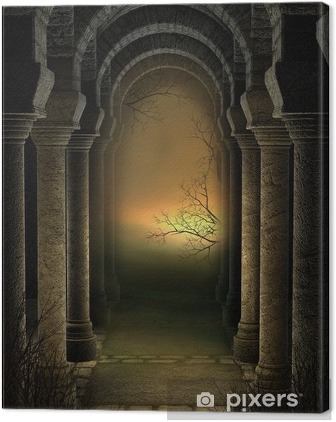 Tableau sur toile Les ruines de la cathédrale - Esotérisme