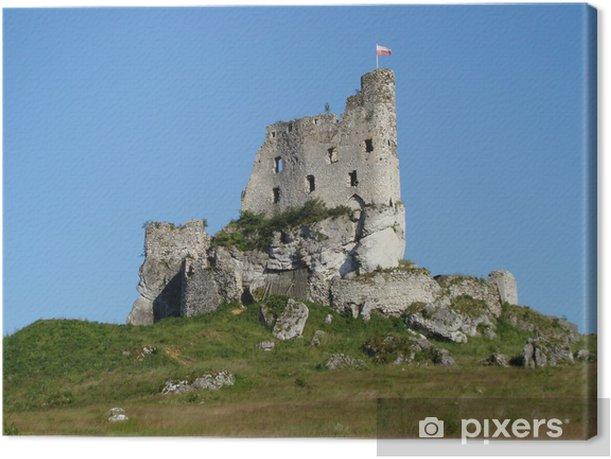 Tableau sur toile Les ruines du château de Mirow, Pologne - Europe