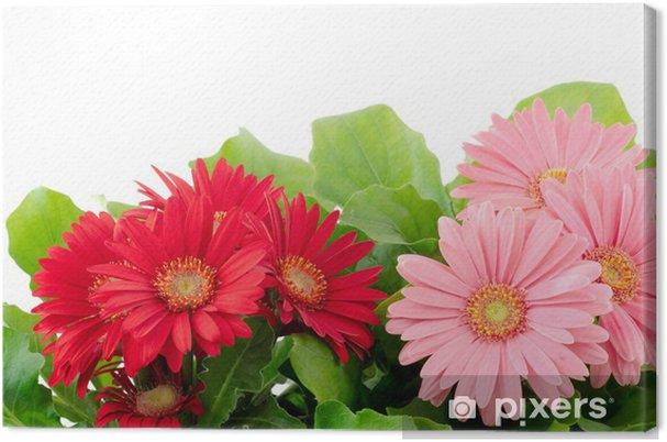 Tableau Sur Toile Les Souches De Fleur De Gerbera Et Rose Rouge