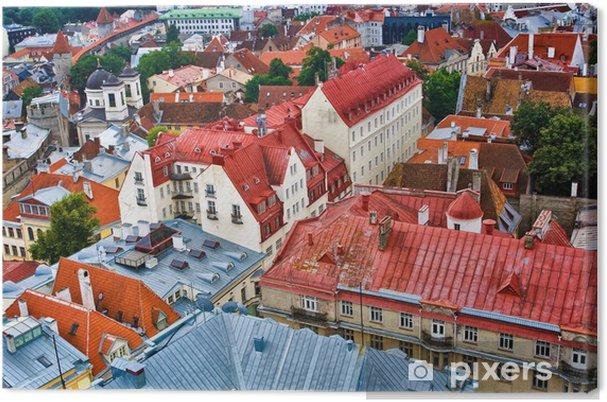 Tableau sur toile Les toits de la vieille ville de Tallinn - Europe